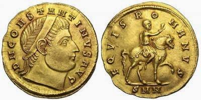medallón de oro de Constantino