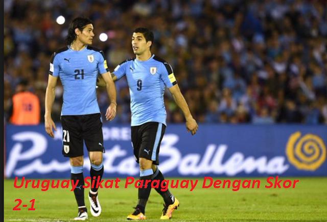 Uruguay Sikat Paraguay Dengan Skor 2-1