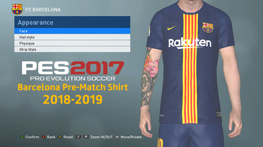 866a8910f PES 2017 FC Barcelona Pre-Match Kit Released 2018 2019
