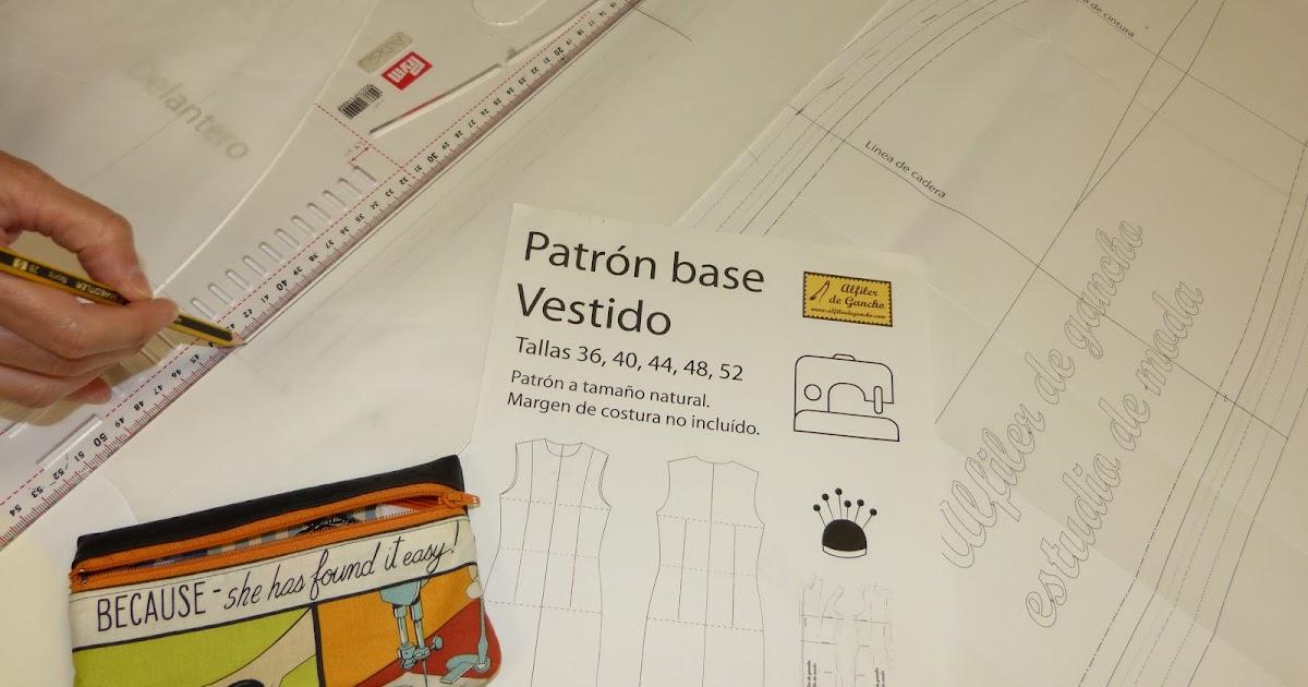 PATRON BASE DE VESTIDO EN VARIAS TALLAS