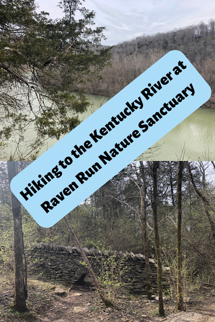 Hiking to the Kentucky River at Raven Run Nature Sanctuary Near Lexington, Kentucky
