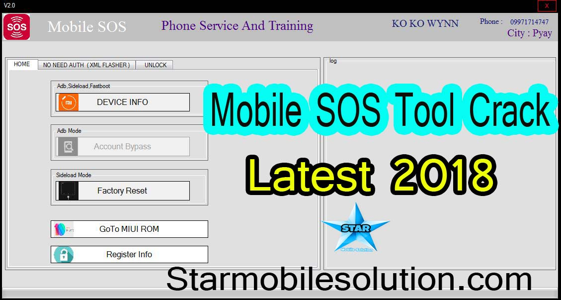 Mobile SOS V2 0 Tool Crack 2018   Mi Account Frp/Flashing/Pattern