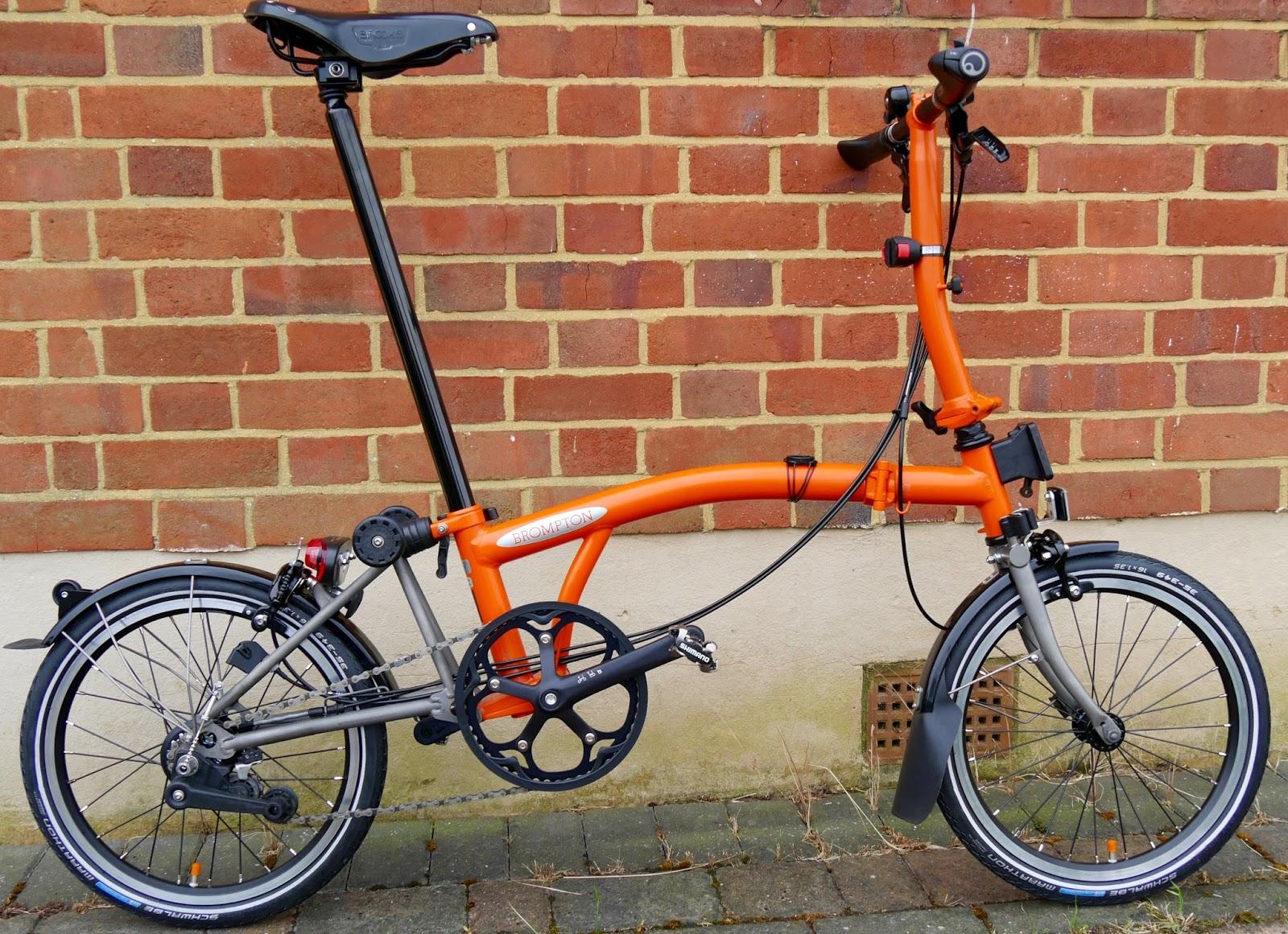My Orange Brompton Orange, black and titanium the new black?