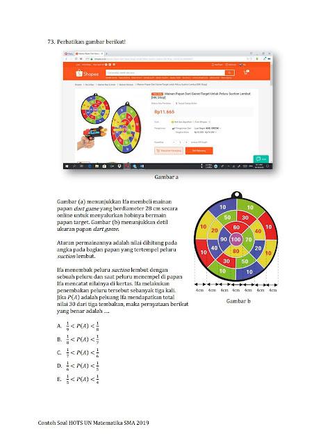 Contoh Soal HOTS Matematika SMP dan Matematika SMA