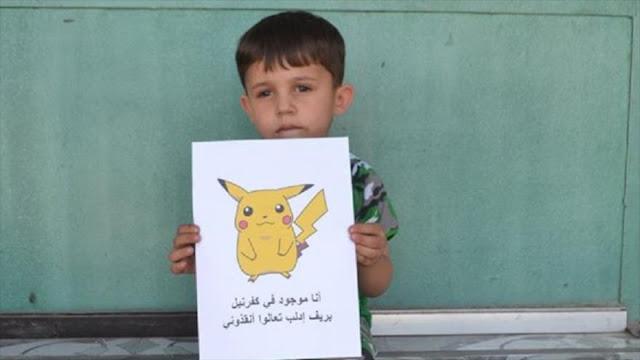 """""""Aquí también hay Pokémon"""": Niños sirios piden al mundo salvarles"""