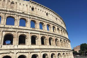 Coliseo de Roma -o anfiteatro Flavio-