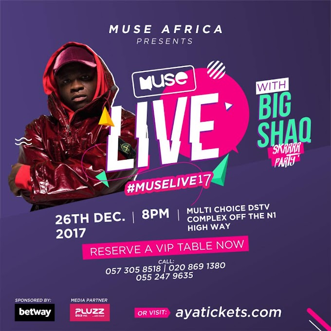Global viral sensation Big Shaq takes over Accra with #MUSELive2017