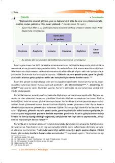 9. Sınıf Din Kültürü Ders Kitabı Cevapları Nev Yayınları Sayfa 15