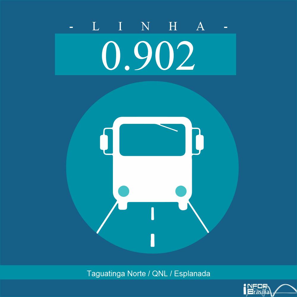 Horário de ônibus e itinerário 0.902 - Taguatinga Norte / QNL / Esplanada