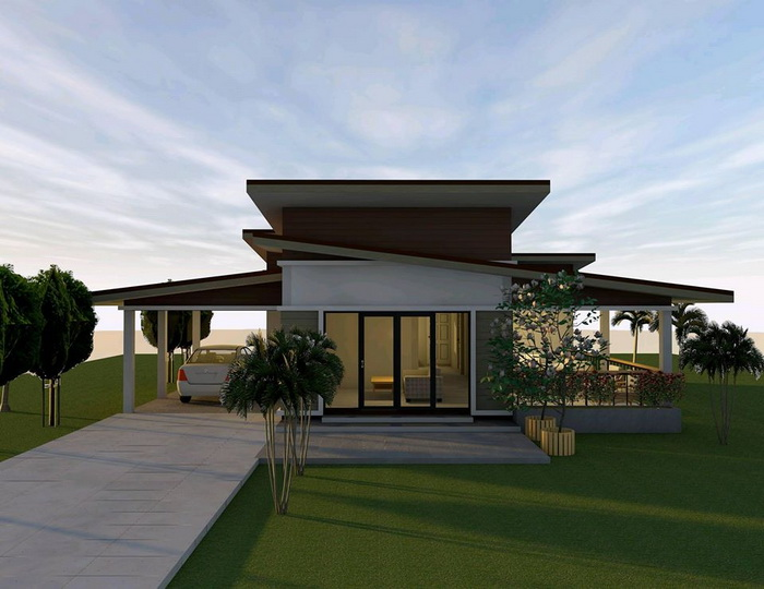 Modern design can be a good choice for a house simply because people are always attracted to something new. When it comes choosing a house design, a modern house can give you beauty and elegance. So if you really want to have a house with a modern style, here are some ideas you need to consider.  Advertisement    Modern style house with 1 bedroom, 1 bathroom, central hall and front porch with 70 square meters of living space.   Sponsored Links      HOUSE MODEL 1                                  HOUSE MODEL 2    The house has 136 square meters of living space, consisting of 3 bedrooms, 2 bathrooms, a central hall, a kitchen and a front porch.                                                                           HOUSE MODEL 3    The house consists of 2 bedrooms, 1 bathroom, hallway, kitchen and front porch.                    HOUSE MODEL 4    For this modern style home.  The house consists of 2 bedrooms, 1 bathroom, 1 kitchen, 1 living room with a garage. Suitable for small families.            HOUSE MODEL 5    For this house is a modern home style single storey. The total area of 90 square meters.                                                                    SOURCE: naibann