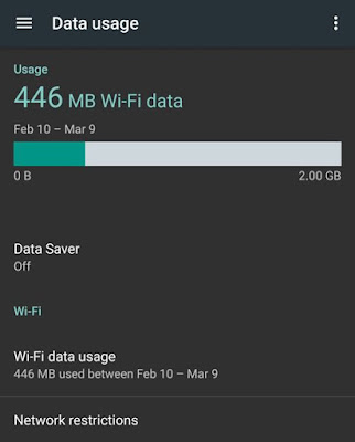 Android 7.0 N Data Usage