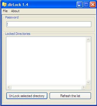 dirlock برنامج مجانى لإغلاق المجلدات و الملفات و وضع كلمات سر عليها