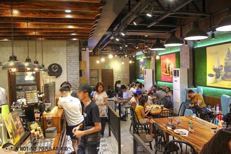 Interior of Black Scoop Cafe in UN Square, Manila