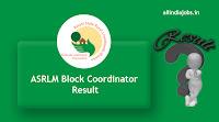 ASRLM Block Coordinator Result