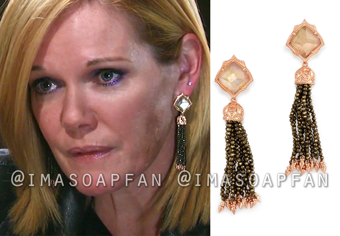 Ava Jerome, Maura West, Beaded Tassel Earrings, Kendra Scott, General Hospital, GH