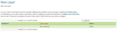 daftar layer yang berada pada database