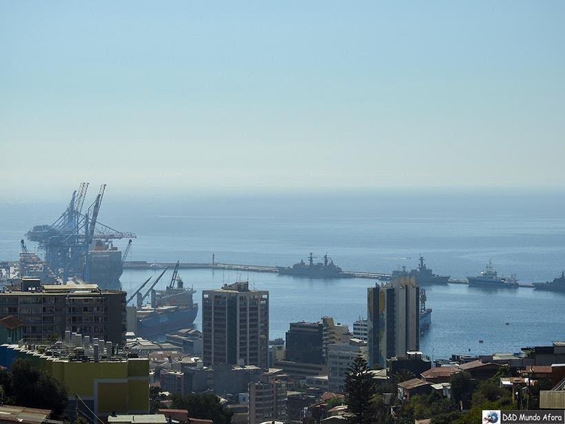 Vista da do mar lá da casa de Pablo Neruda em Valparaíso, Chile - O que fazer em Valparaíso em algumas horas