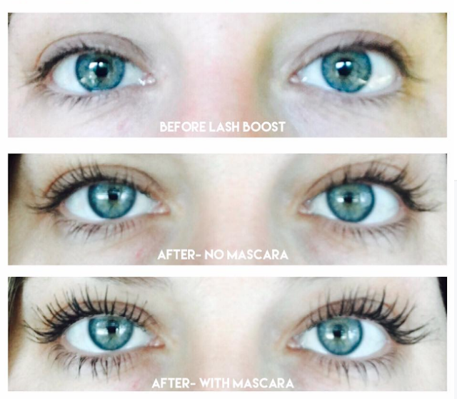 0f79a2d7265 I am obsessed with Lash Boost...it is my current favorite R+F  product....the results are incredible. Here are my friend Caroline's lashes: