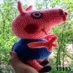 patron gratis cerdo george pig amigurumi, free amigurumi pattern pig george pig