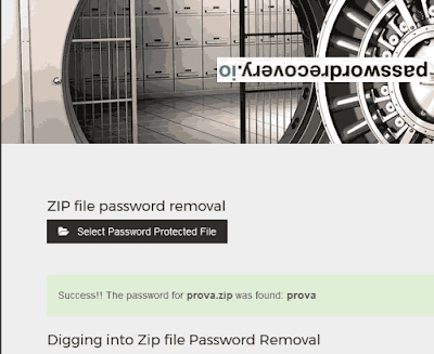Come recuperare password zip online