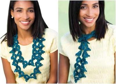 Collar Florabella pétalos en círculo a crochet