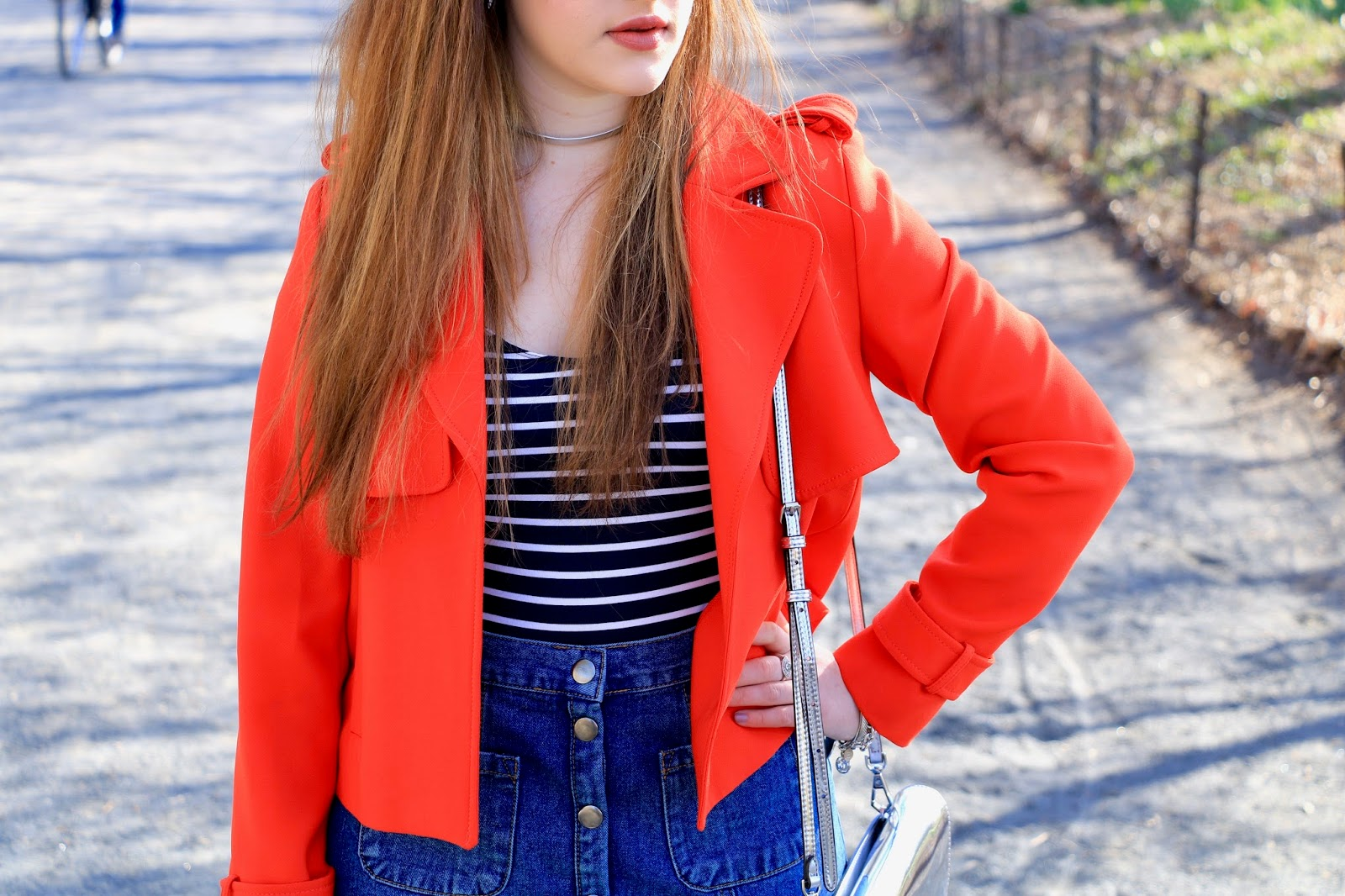 zara orange spring jacket