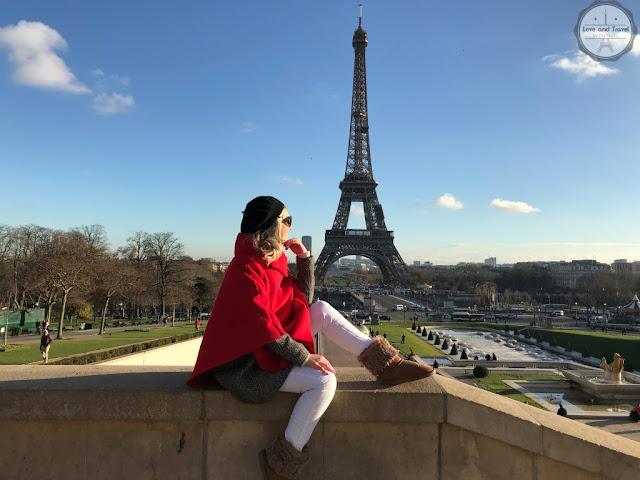 Paris, França - Torre Eiffel vista do Trocadero