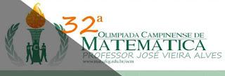 Começam as inscrições para a 32ª Olimpíada Campinense de Matemática