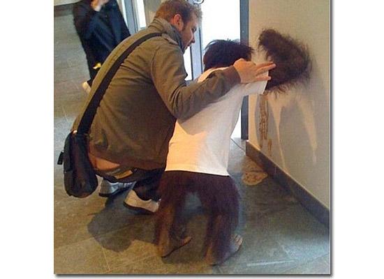 As fotos mais estranhas e inexplicáveis de todos os tempos - parte 3 - Macaco vomitando