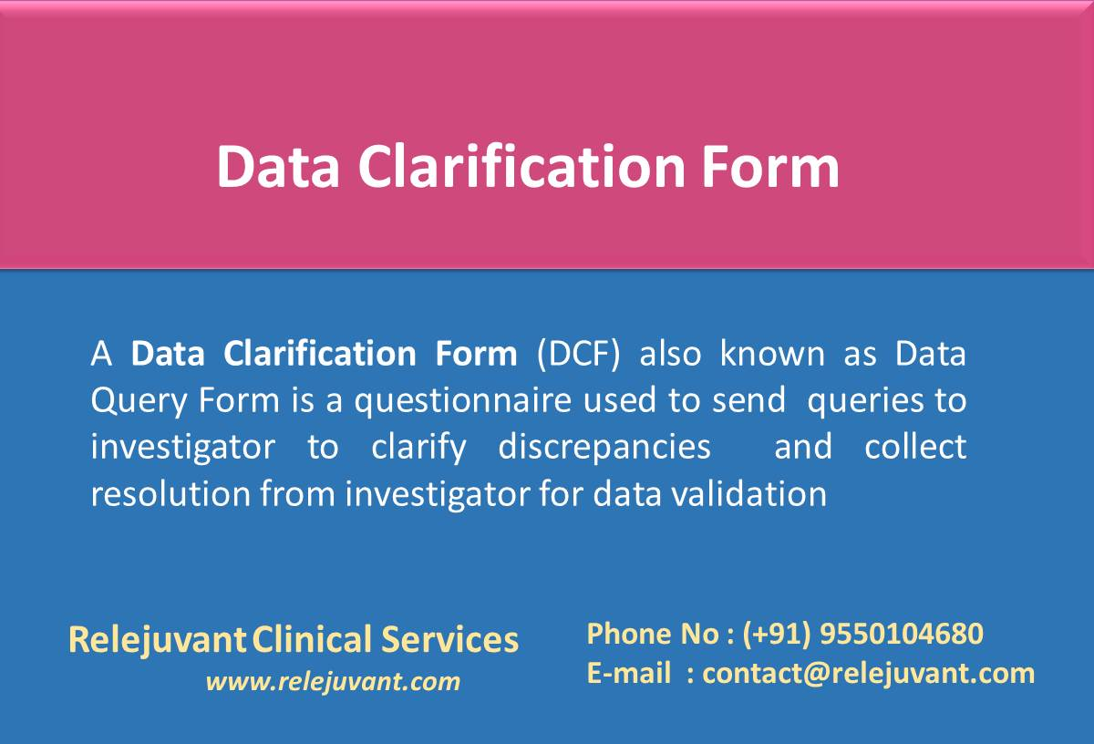 Data Clarification Form Template Clinical Trials