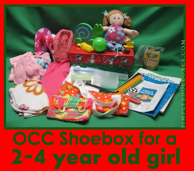 Operation Christmas Child shoebox for 2 to 4 year old girl