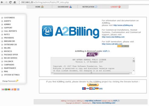 Install A2billing - cài đặt A2billing cho tổng đài Aterisk
