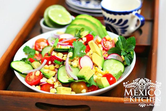 Avocado, Tomato, Corn Salad Recipe