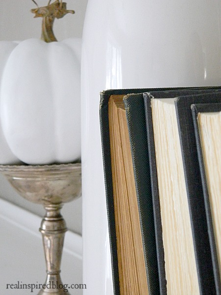 Nautical Neutral Natural Fall Mantel Pumpkin Books