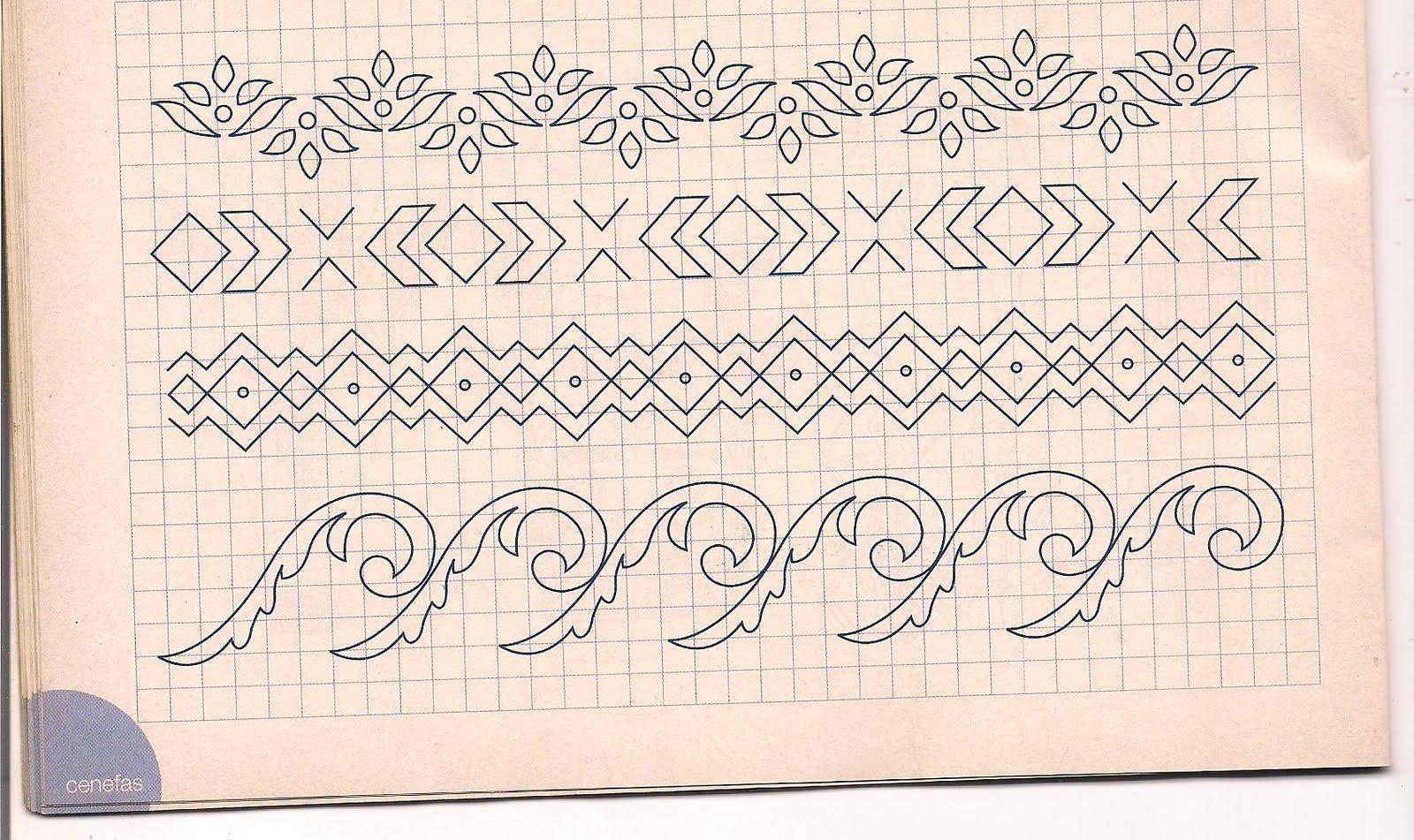 El blog de flor mar y ojito figuras y letras moldes - Cenefas para dibujar ...