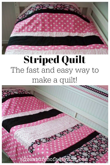 Striped quilt - the fast and easy way to make a quilt