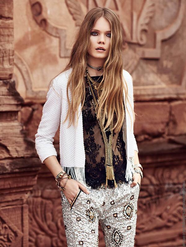 Blusas con transparencias y pantalones de moda verano 2017 Rapsodia.