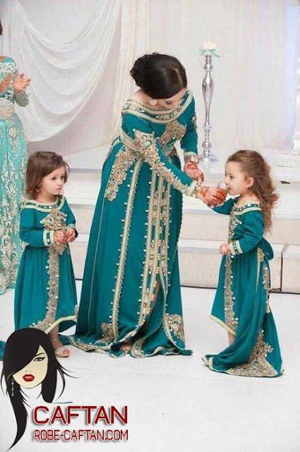 Caftan pour les femmes et aussi une collection pour les petites filles 2017