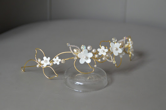 "Diadème ""Fée"" - bridal gold headpiece"