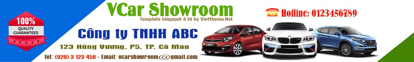 VCar Showroom - Template blogspot chuyên về trưng bày xe ô tô