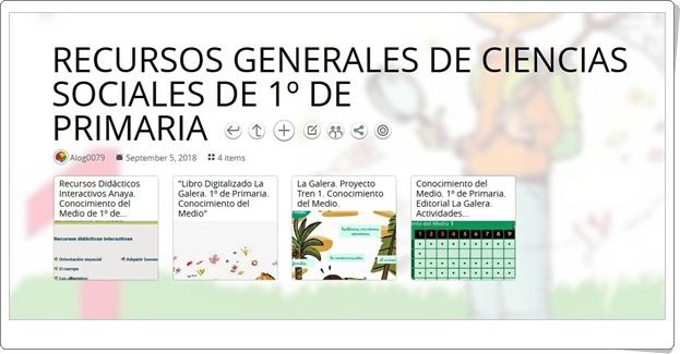 """""""RECURSOS GENERALES DE CIENCIAS SOCIALES DE 1º DE PRIMARIA"""""""