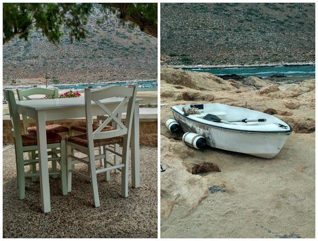 tawerny nad samym brzegiem morza, Grecja, Kreta