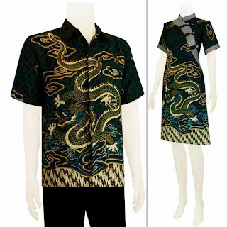 Sarimbit Dress Batik Motif Naga Batik Bagoes Solo
