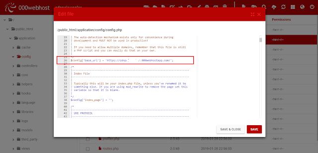 Cara Konfigurasi Hosting di 000Webhost