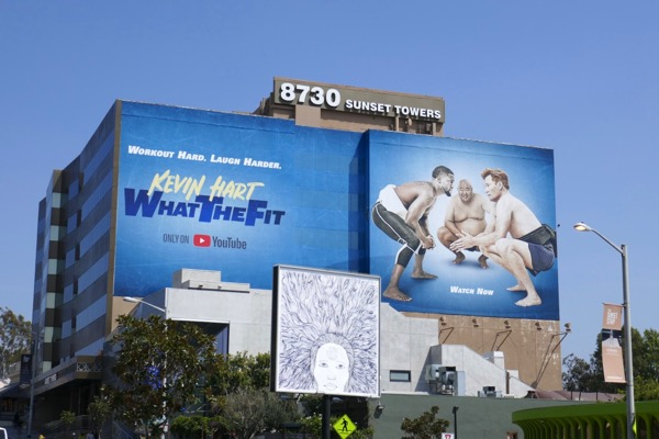 Giant Kevin Hart What The Fit YouTube billboard