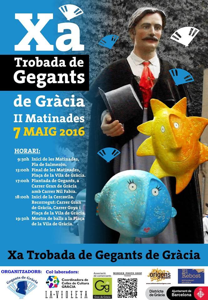 Totagenda cultura x trobada de gegants de gr cia el 7 de maig a barcelona barcelon s - Agenda cultura barcelona ...