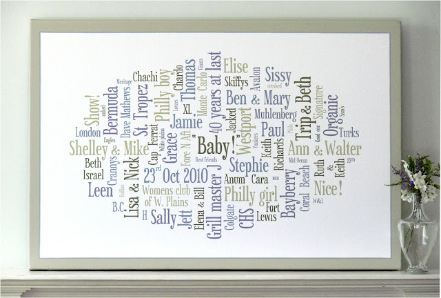 personalised word art canvas