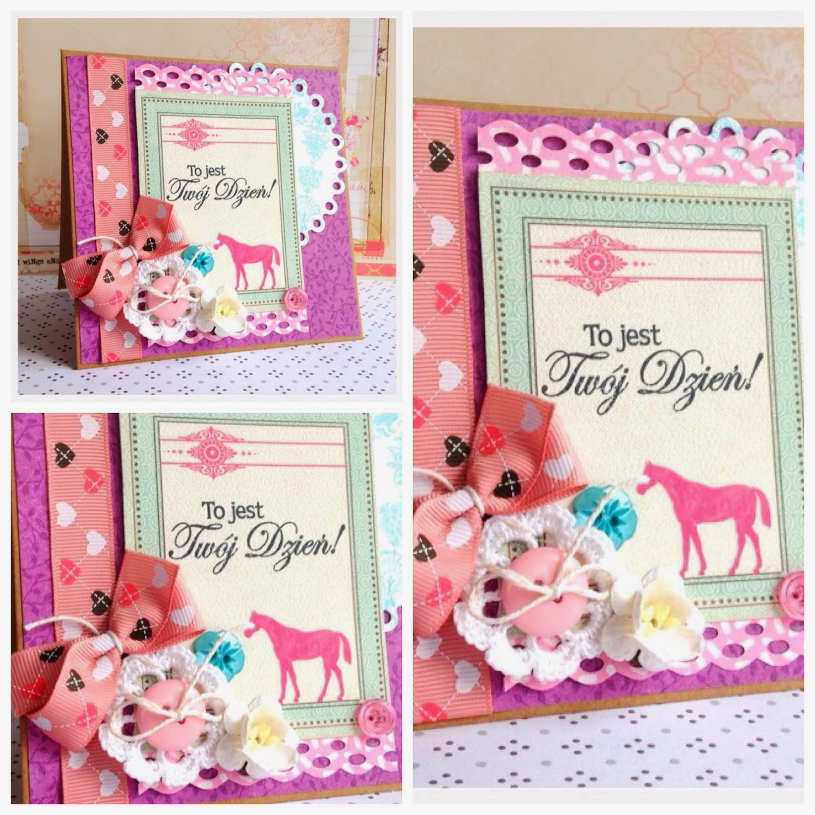 pink card for a girl