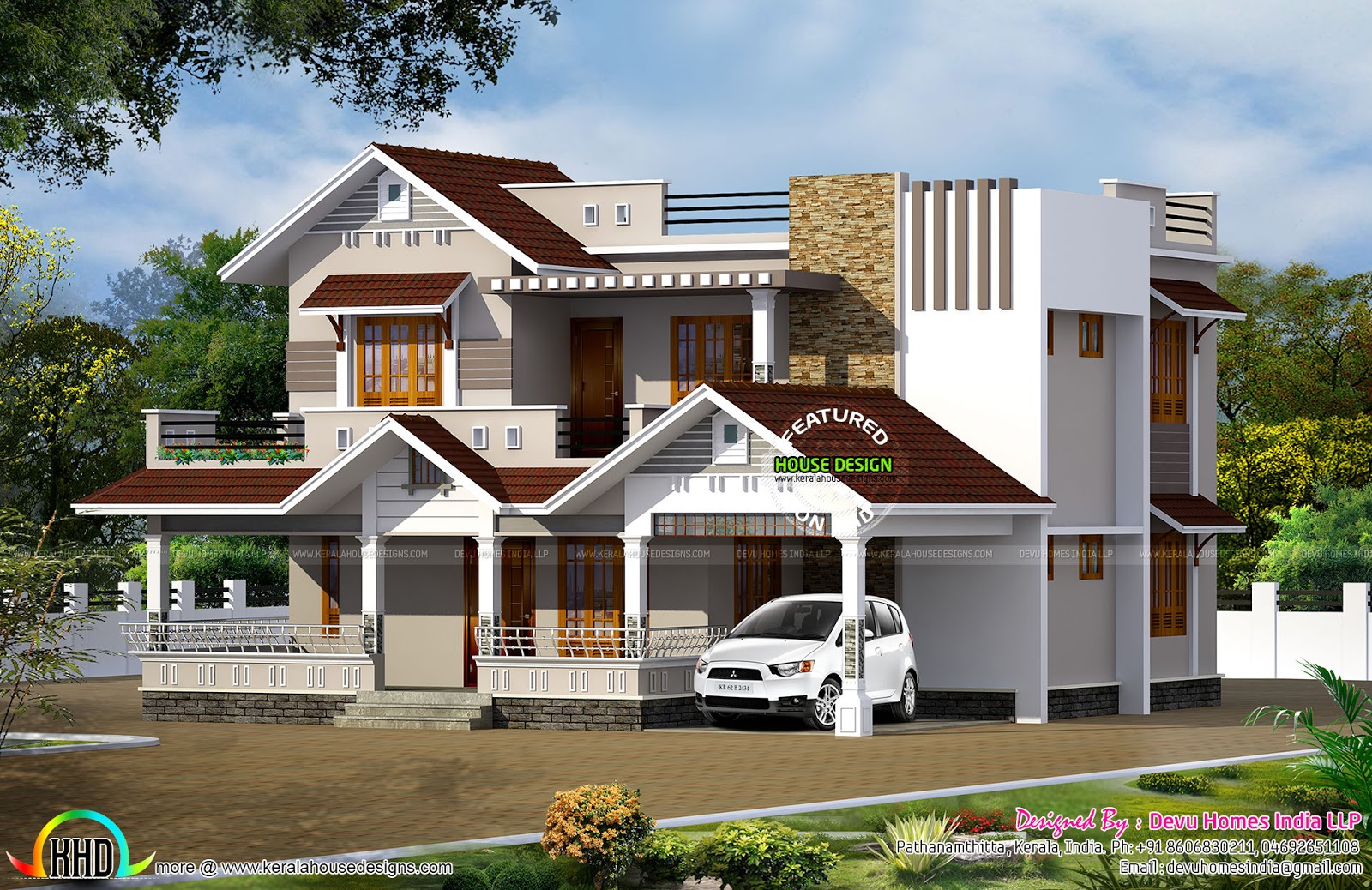 2370 sq ft vastu home modern style kerala home design and floor plans Home design and vastu