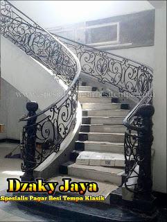 Desain, Railing, Tangga, Besi, Tempa, Klasik, Mewah